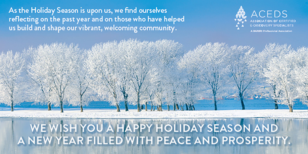 Happy holidays from ACEDS